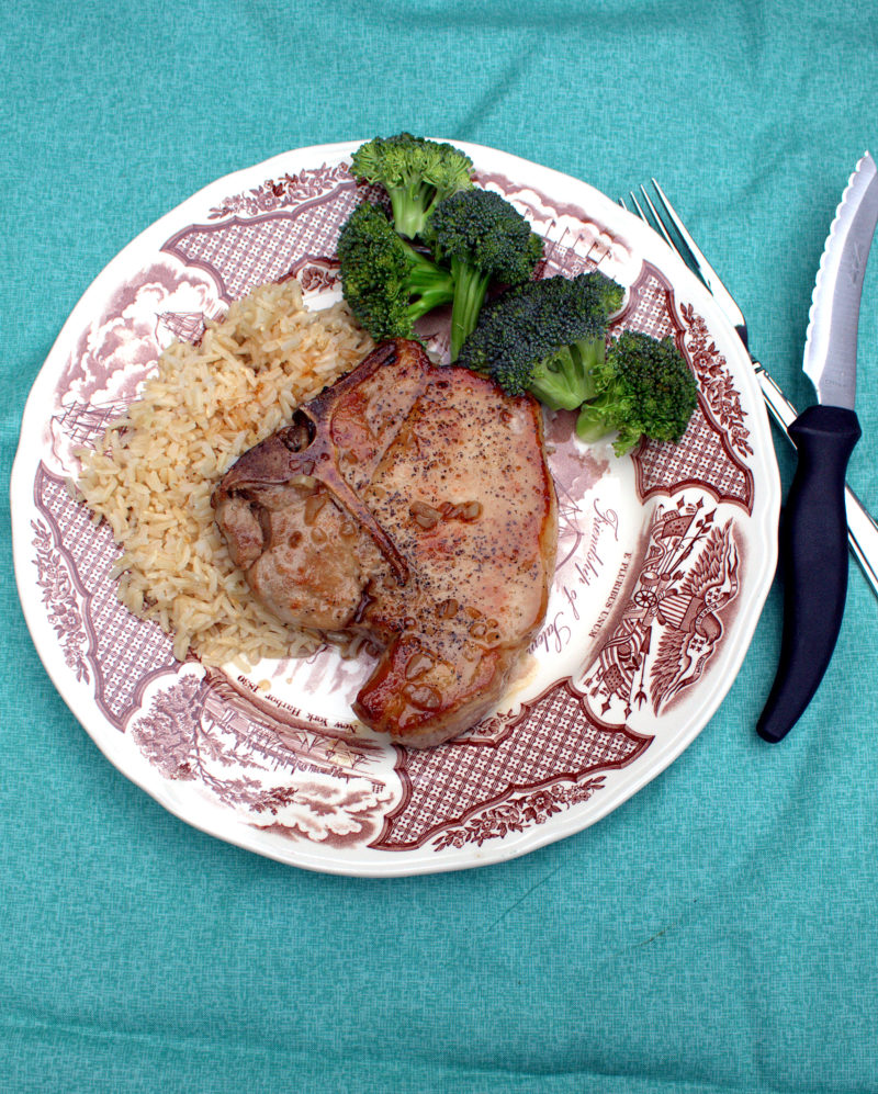 Barrow's Intense Ginger Honey Glazed Pork Chops